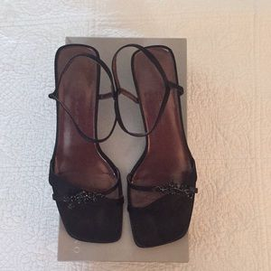 Bandolino Black Elastic Heels with Original Box